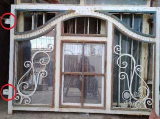 پنجره آهنی تعویض